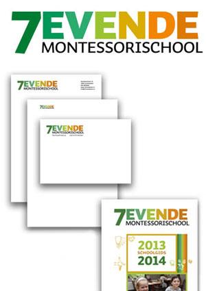 Logo en huisstijl 7e Montessorischool