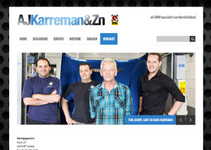 Studio Koen Verbeek Website Wordpress ontwerp thema